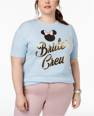 Disney Plus Size Cotton Bride's Crew Graphic-Print T-Shirt
