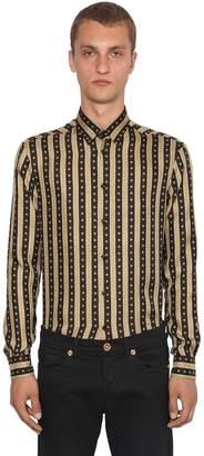 Versace Greca Printed Silk Shirt