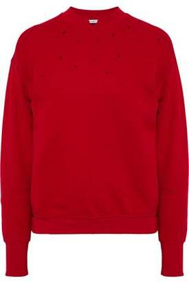 Helmut Lang Distressed Cotton-Terry Sweatshirt