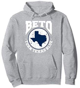 Beto Turn Texas Blue Distressed Graphic Vintage Hoodie