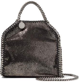 Stella McCartney The Falabella Tiny Faux Brushed-leather Shoulder Bag - Black