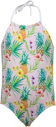 Snapper Rock Pineapple One-Piece Halter Swimsuit