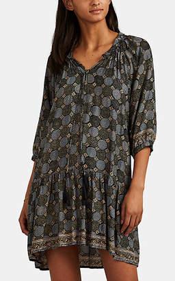 Natalie Martin Women's Stevie Star-Print Silk Dress - Black