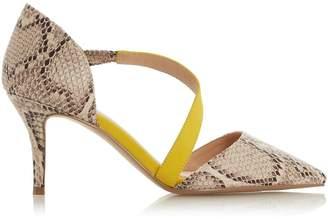 28b995ceac05 Dorothy Perkins Womens  Head Over Heels By Dune Natural  Camellia  Mid Heel  Shoes