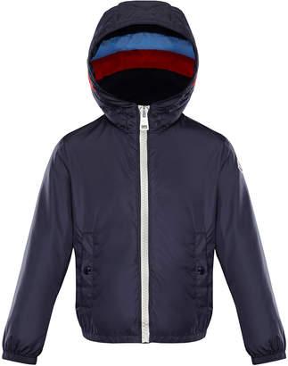 Moncler Camarsac Lightweight Down Jacket w/ Colorblock Hood, Size 8-14