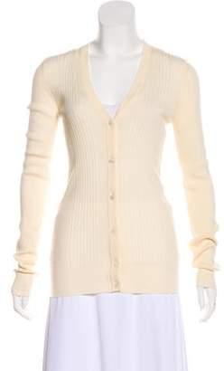 Dolce & Gabbana Ribbed Wool Cardigan