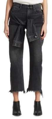 Alexander Wang Stack Tie Crop Jeans