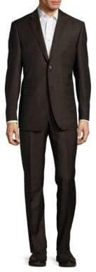 Classic-Fit Solid Two-Button Suit