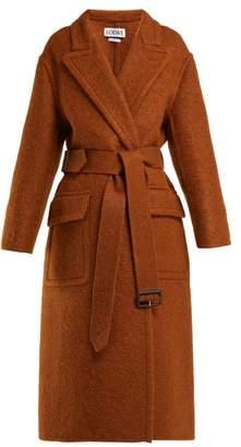 Loewe X Charles Rennie Mackintosh Mohair Blend Coat - Womens - Brown