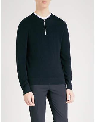 Sandro Zip-detail knitted jumper