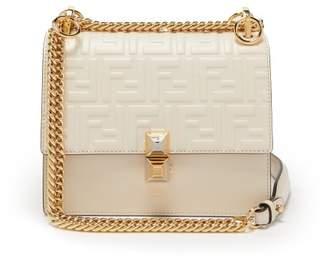 Fendi Kan I Small Leather Cross Body Bag - Womens - White