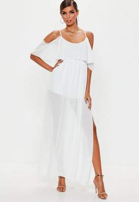 Missguided Cold Shoulder Maxi Dress