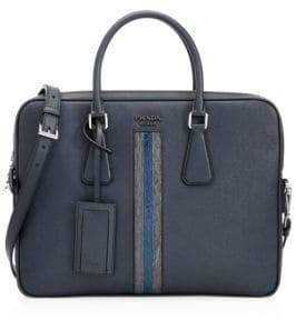 Prada Borsa Da Lavoro Saffiano Leather Briefcase