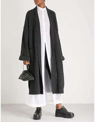 Isabel Benenato Longline yak and merino wool-blend coat