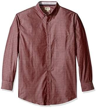 Haggar Men's Long Sleeve Mini-Windowpane Woven Shirt