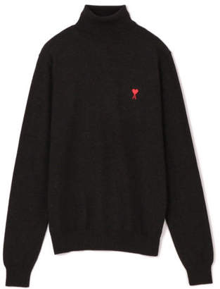 Ami PULL COL ROULE BRODERIE DE CCEUR