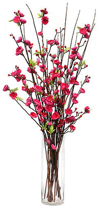 "One Kings Lane 34"" Cerise Blossom Arrangement with Tall Vase - Faux"