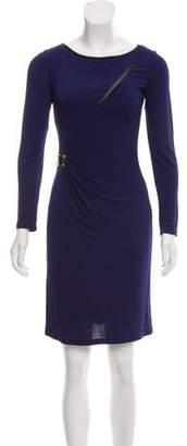 Emilio Pucci Gathered Long Sleeve Dress