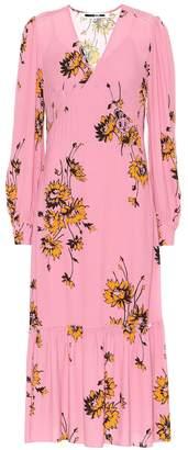 McQ Floral-printed crepe midi dress