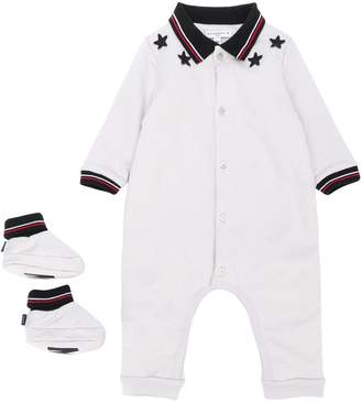 Givenchy Kids star patch polo romper