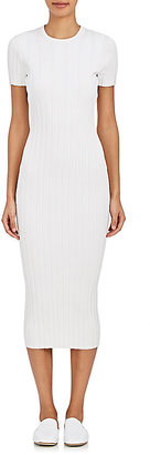Helmut Lang Women's Rib-Knit Fitted Sheath Dress $575 thestylecure.com
