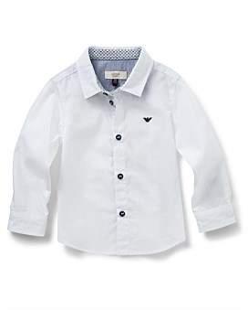 Armani Junior Boys Long Sleeve Woven Shirt With Logo