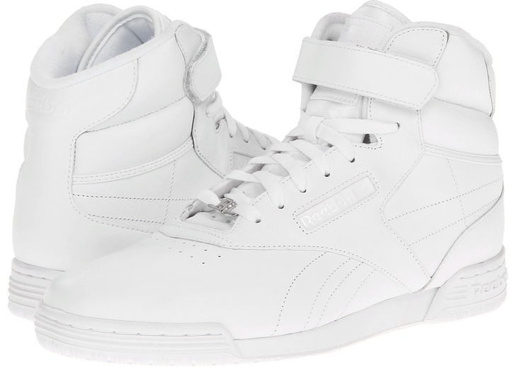 Reebok Ex-O-Fit Hi Clean Logo R12 (White/White/White) - Footwear