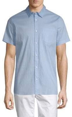 Calvin Klein Seersucker Stretch Cotton Shirt