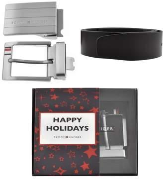 Tommy Hilfiger Double Buckle Belt Gift Set Black