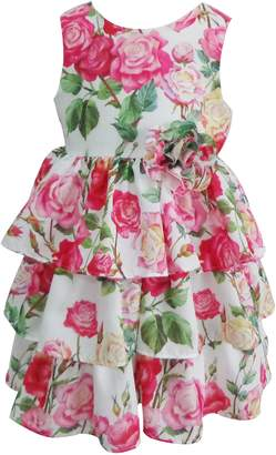 Popatu Floral Tiered Dress