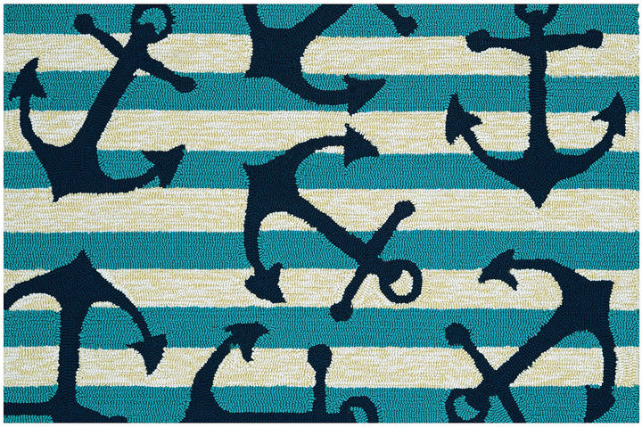 CouristanCouristan Anchors Away Hooked Rectangle Accent Rug