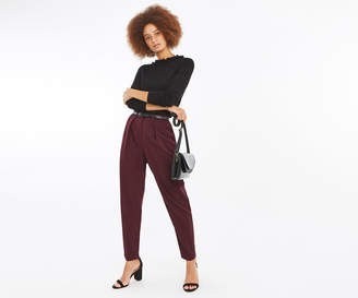 Oasis Belted Peg Leg Trousers