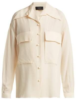 Joseph Cam Patch Pocket Silk And Cotton Blend Shirt - Womens - Cream