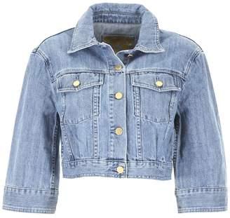 MICHAEL Michael Kors Cropped Denim Jacket