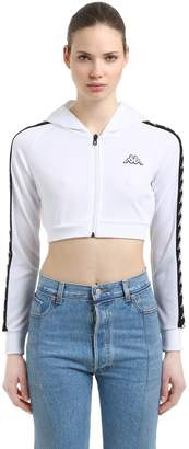 Kappa Logo Tape Interlock Cropped Sweatshirt