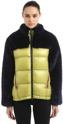 Faux Fur & Nylon Down Jacket