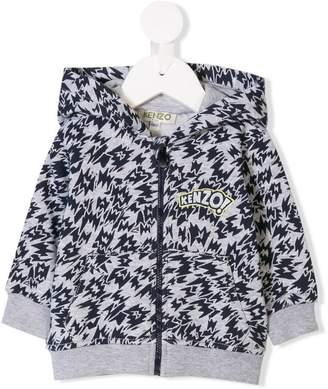 Kenzo logo patch hoodie