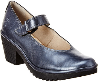 Fly London Wiss Leather Mary-Jane Pump