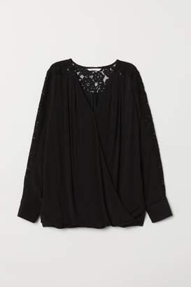 H&M MAMA Nursing Blouse - Black