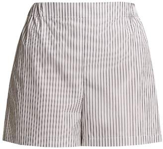 THREE GRACES LONDON Alcina striped high-rise cotton pyjama shorts