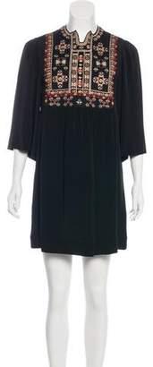 Isabel Marant Silk Embroidered Dress