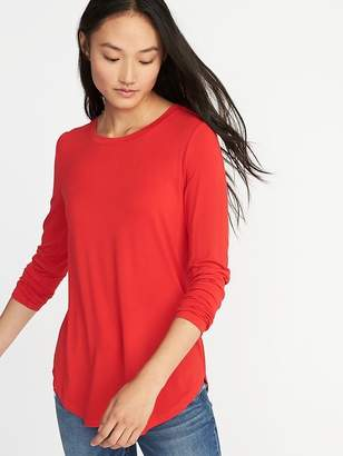 Old Navy Luxe Crew-Neck Tee for Women