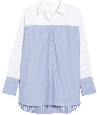 Nordstrom Signature Variegated Stripe Popover Shirt
