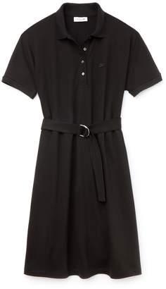 Lacoste Women's Flowing Cotton Pique Polo Dress