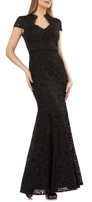 JS Collections Lace Mermaid Gown