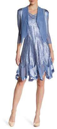 KOMAROV Crinkled Dress & Cascade Jacket 2-Piece Set $418 thestylecure.com