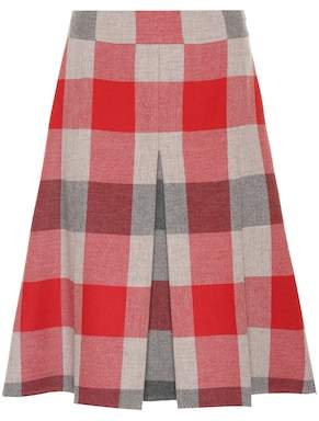 Bottega Veneta Checked wool and cashmere skirt