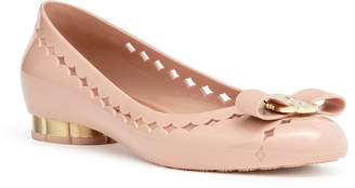 Salvatore Ferragamo Jelly light pink bon bon rubber ballerinas