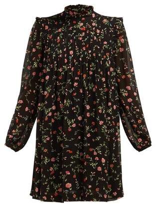 060f78d7a2a2d2 Ganni Elm Floral Print Mini Dress - Womens - Black