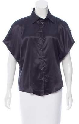 Calvin Klein Collection Satin Button-Up Top